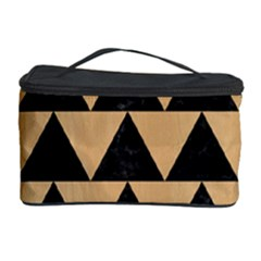 Triangle2 Black Marble & Natural White Birch Wood Cosmetic Storage Case