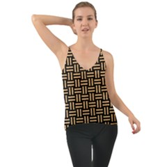 Woven1 Black Marble & Natural White Birch Wood Cami