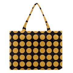 Circles1 Black Marble & Orange Colored Pencil Medium Tote Bag by trendistuff
