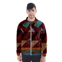 Turquoise And Bronze Triangle Design With Copper Wind Breaker (men) by theunrulyartist