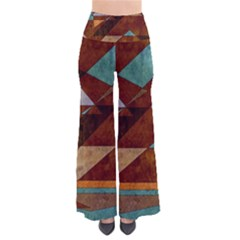 Turquoise And Bronze Triangle Design With Copper Pants by theunrulyartist