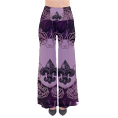 Soft Violett Floral Design Pants by FantasyWorld7