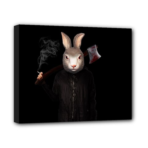 Evil Rabbit Canvas 10  X 8  by Valentinaart