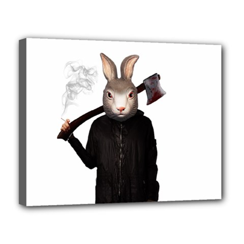 Evil Rabbit Canvas 14  X 11  by Valentinaart