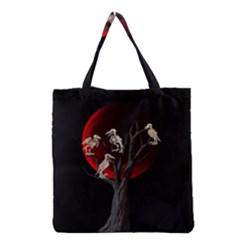 Dead Tree  Grocery Tote Bag by Valentinaart