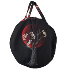 Dead Tree  Giant Round Zipper Tote by Valentinaart