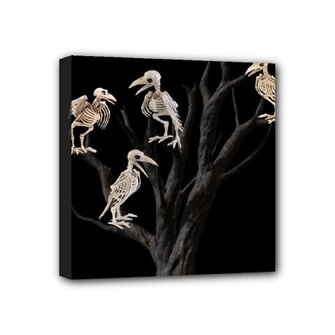 Dead Tree  Mini Canvas 4  X 4  by Valentinaart