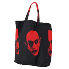 Dracula Giant Grocery Zipper Tote by Valentinaart