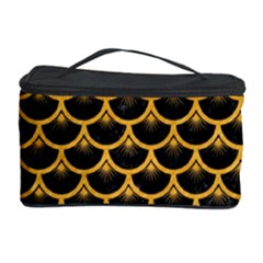 Scales3 Black Marble & Orange Colored Pencil Cosmetic Storage Case