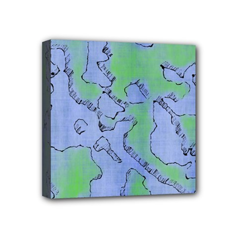Fantasy Dungeon Maps 5 Mini Canvas 4  X 4  by MoreColorsinLife