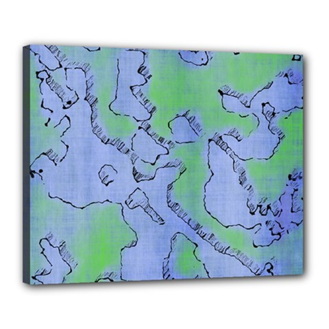 Fantasy Dungeon Maps 5 Canvas 20  X 16  by MoreColorsinLife