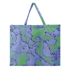Fantasy Dungeon Maps 5 Zipper Large Tote Bag by MoreColorsinLife