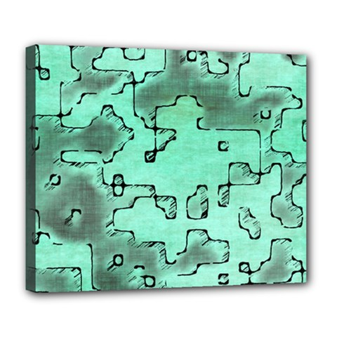 Fantasy Dungeon Maps 7 Deluxe Canvas 24  X 20   by MoreColorsinLife