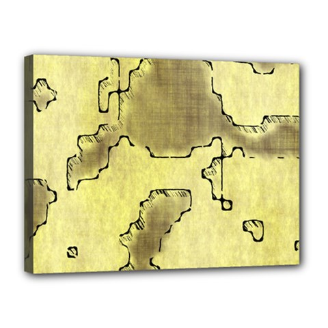Fantasy Dungeon Maps 8 Canvas 16  X 12  by MoreColorsinLife