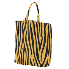 Skin4 Black Marble & Orange Colored Pencil Giant Grocery Zipper Tote by trendistuff