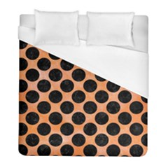 Circles2 Black Marble & Orange Watercolor Duvet Cover (full/ Double Size) by trendistuff