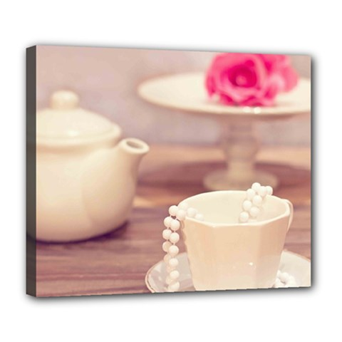 High Tea, Shabby Chic Deluxe Canvas 24  X 20   by 8fugoso