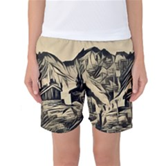 Ink Art Women s Basketball Shorts by 8fugoso