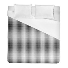 Classic Vintage Black And White Houndstooth Pattern Duvet Cover (full/ Double Size) by Beachlux