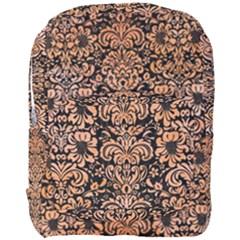 Damask2 Black Marble & Orange Watercolor (r) Full Print Backpack by trendistuff
