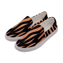 Skin3 Black Marble & Orange Watercolor (r) Women s Canvas Slip Ons by trendistuff