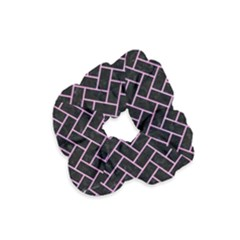 Brick2 Black Marble & Pink Colored Pencil (r) Velvet Scrunchie by trendistuff