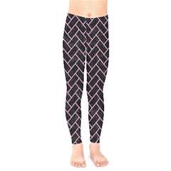 Brick2 Black Marble & Pink Colored Pencil (r) Kids  Legging by trendistuff