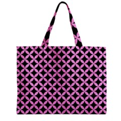 Circles3 Black Marble & Pink Colored Pencil (r) Zipper Mini Tote Bag by trendistuff