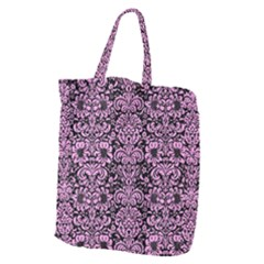 Damask2 Black Marble & Pink Colored Pencil (r) Giant Grocery Zipper Tote by trendistuff