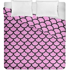 Scales1 Black Marble & Pink Colored Pencil Duvet Cover Double Side (king Size) by trendistuff