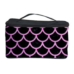 Scales1 Black Marble & Pink Colored Pencil (r) Cosmetic Storage Case by trendistuff
