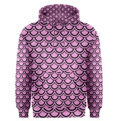 Scales2 Black Marble & Pink Colored Pencil Men s Pullover Hoodie
