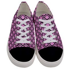 Scales2 Black Marble & Pink Colored Pencil Women s Low Top Canvas Sneakers