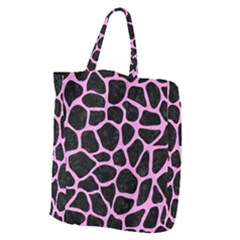 Skin1 Black Marble & Pink Colored Pencil Giant Grocery Zipper Tote