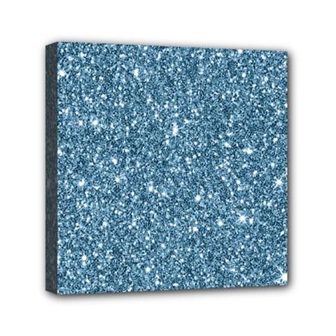 New Sparkling Glitter Print F Mini Canvas 6  X 6  by MoreColorsinLife