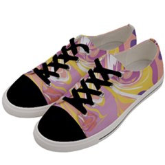 Abstract Marble 5 Men s Low Top Canvas Sneakers by tarastyle