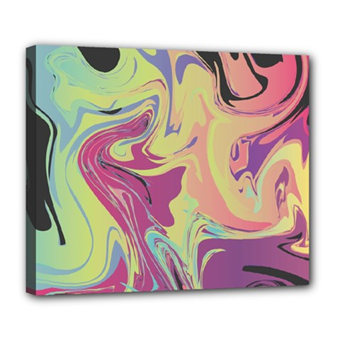 Abstract Marble 8 Deluxe Canvas 24  X 20   by tarastyle