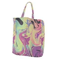 Abstract Marble 8 Giant Grocery Zipper Tote