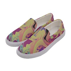 Abstract Marble 8 Women s Canvas Slip Ons by tarastyle