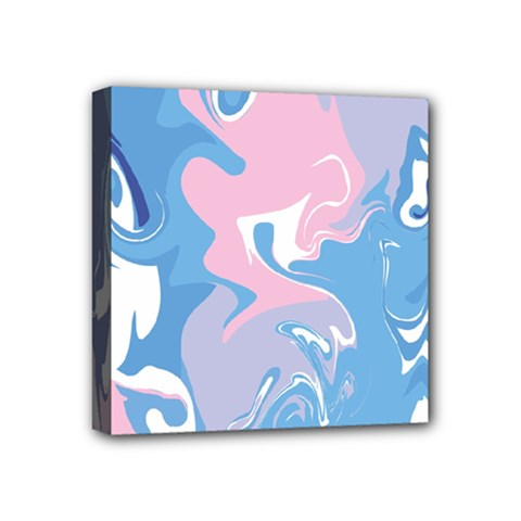 Abstract Marble 10 Mini Canvas 4  X 4  by tarastyle