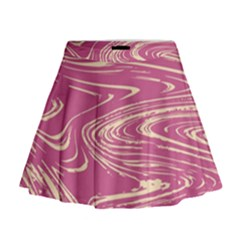 Abstract Marble 14 Mini Flare Skirt by tarastyle