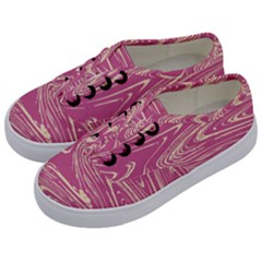 Abstract Marble 14 Kids  Classic Low Top Sneakers by tarastyle