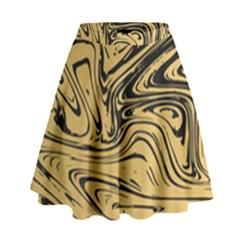 Abstract Marble 16 High Waist Skirt by tarastyle