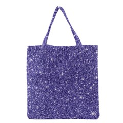 New Sparkling Glitter Print E Grocery Tote Bag by MoreColorsinLife