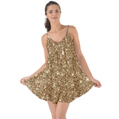 New Sparkling Glitter Print H Love The Sun Cover Up