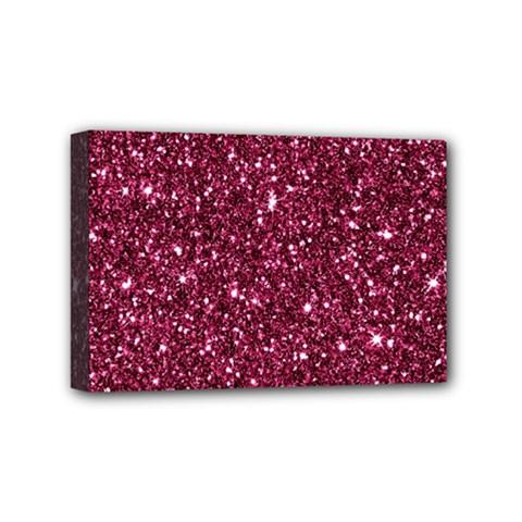 New Sparkling Glitter Print J Mini Canvas 6  X 4  by MoreColorsinLife