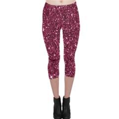 New Sparkling Glitter Print J Capri Leggings  by MoreColorsinLife