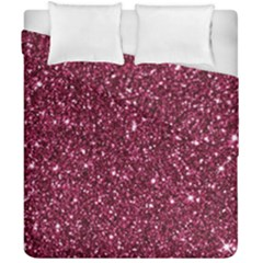 New Sparkling Glitter Print J Duvet Cover Double Side (california King Size) by MoreColorsinLife