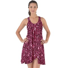 New Sparkling Glitter Print J Show Some Back Chiffon Dress by MoreColorsinLife