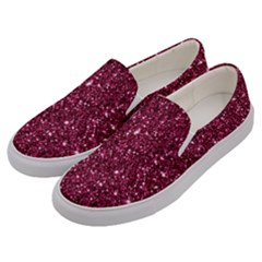 New Sparkling Glitter Print J Men s Canvas Slip Ons by MoreColorsinLife